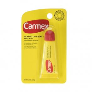 Лечебный бальзам для губ в тубе Carmex Classic Lip Balm Medicated