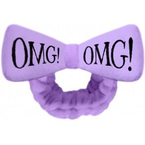 """Бант-повязка для фиксации волос во время косметических процедур """"Лавандовая"""" Double Dare Omg! Mega Hair Band Purple"""