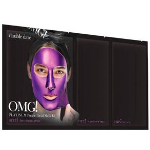 Комплекс масок трехкомпонентный для увлажнения Double Dare OMG! Platinum Purple Facial Mask Kit