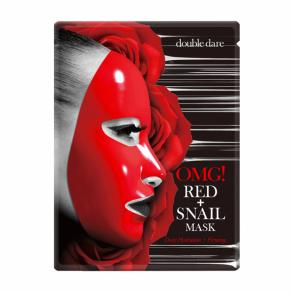 Тканевая маска с муцином улитки для глубокого увлажнения Double Dare OMG! Red + Snail Mask