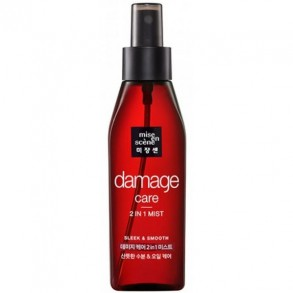 Восстанавливающий мист для волос на масляной основе Mise En Scene Damage Care 2 in 1 Sleek & Smooth Mist