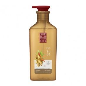 Шампунь для ломких волос и жирной кожи головы Aekyung KeraSys Dong Ui Hong Sam Ginger Red Ginseng Shampoo