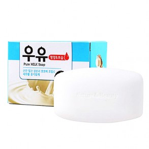 Мыло для лица и тела с молочными протеинами Mukunghwa Pure Milk Soap