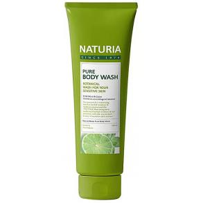 Гель для душа дикая мята и лайм Naturia Pure Body Wash Wild Mint & Lime