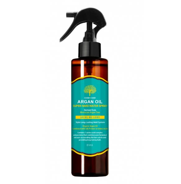 Спрей для укладки волос Char Char Argan Oil Super Hard Water Spray