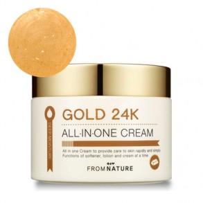Омолаживающий крем-гель с коллоидным золотом From Nature Deep Moisture Gold 24K All In One Cream