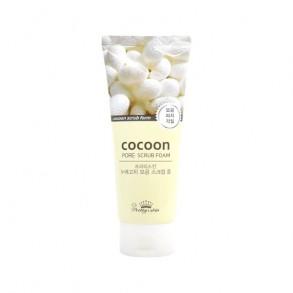 Пенка-скраб с экстрактом кокона шелкопряда Pretty Skin Cocoon Pore Scrub Foam