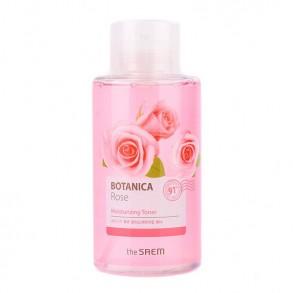 Тонер на основе розовой воды The Saem Botanica Rose Moisturizing Toner
