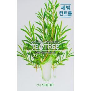 Тканевая маска с экстрактом чайного дерева The Saem Natural Tea Tree Mask Sheet