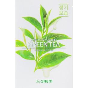 Успокаивающая тканевая маска с экстрактом зеленого чая The Saem Natural Mask Sheet Green Tea