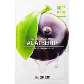 Тканевая маска с экстрактом ягод асаи The Saem Natural Acai Berry Mask Sheet