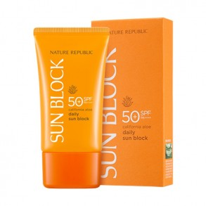 Солнцезащитный крем Nature Republic California Aloe Daily Sun Block SPF50+ PA+++