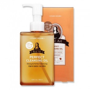 Гидрофильное масло с маслом Ши Etude House Real Art Perfect Cleansing Oil