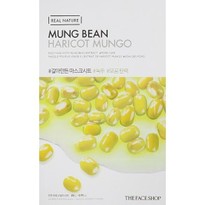 Тканевая маска для лица с экстрактом бобов мунг The Face Shop Real Nature Mung Bean Face Mask