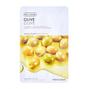 Тканева маска с экстрактом оливы The Face Shop Real Nature Mask Sheet Olive