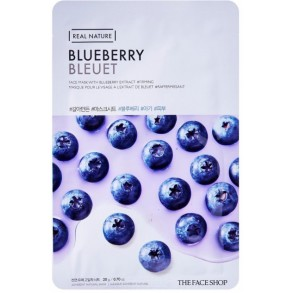 Маскадля лица c экстрактом голубики The Face Shop Real Nature Mask Sheet Blueberry