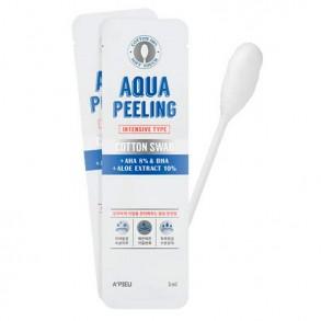 Кислотные палочки для пилинга кожи лица A'pieu Aqua Peeling Cotton Swab Intensive + AHA 8% + Aloe Extract 10%