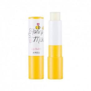 Бальзам для губ с медом A'pieu Honey & Milk Lip Balm