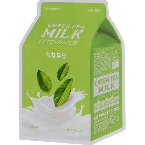 A'pieu Green Tea Milk One-Pack Face Mask