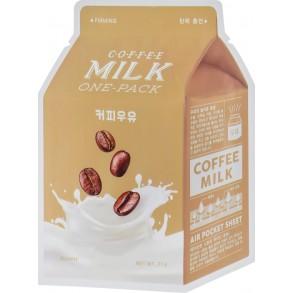 Тканевая маска с молочными протеинами и экстрактом кофе A'Pieu Coffee Milk One-Pack