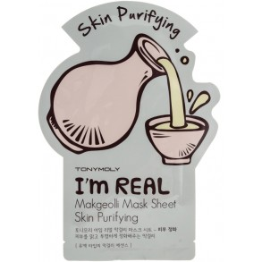 Листовая очищающая маска для лица  Tony Moly I'm Real Makgeolli Mask Sheet
