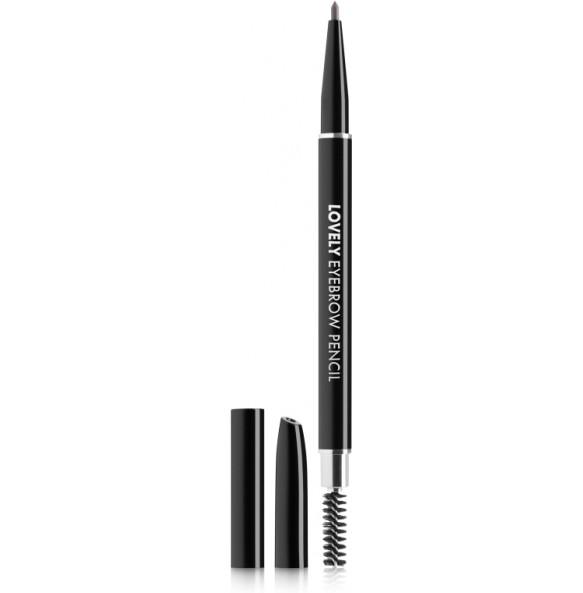 Карандаш для бровей черный Tony Moly Lovely Eyebrow Pencil 01 Black