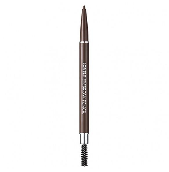 Карандаш для бровей серо-коричневый Tony Moly Lovely Eyebrow Pencil 03 Grey Brown