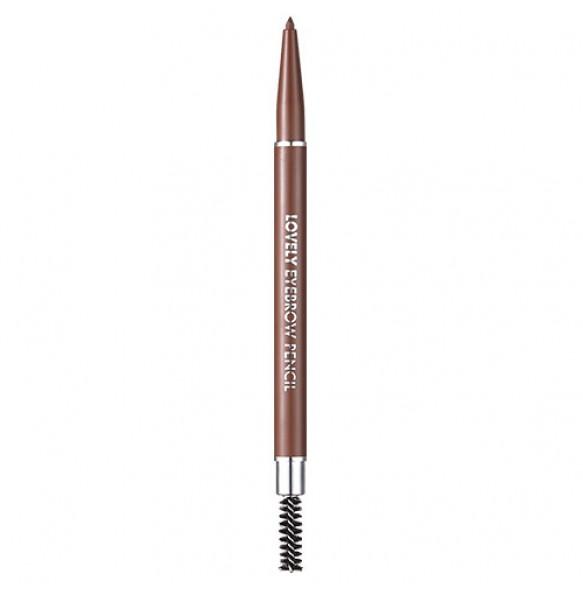 Карандаш для бровей коричневый Tony Moly Lovely Eyebrow Pencil 04 Brown