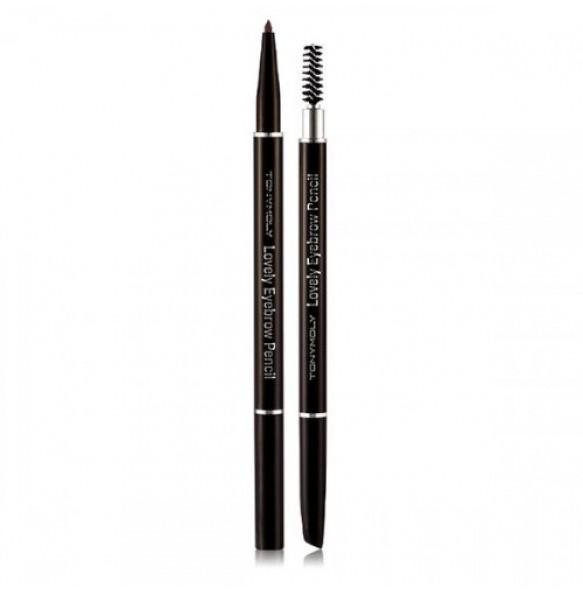 Карандаш для бровей светло-коричневый Tony Moly Lovely Eyebrow Pencil 06 Latte Brown
