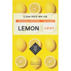 Ультратонкая маска для лица с экстрактом лимона Etude House Therapy Air Mask Lemon