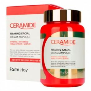 Ампульный крем-сыворотка с керамидами Farmstay Ceramide Firming Facial Cream Ampoule