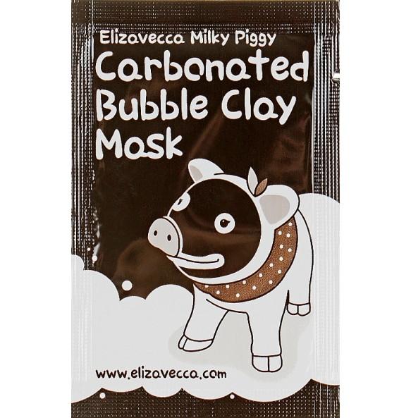 Маска для лица глиняно-пузырьковая Elizavecca Face Care Milky Piggy Carbonated Bubble Clay Mask