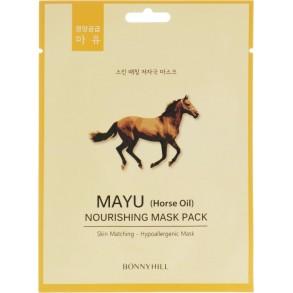 Питательная тканевая маска с лошадиным жиром Beauadd Bonnyhill Mask Pack Mayu