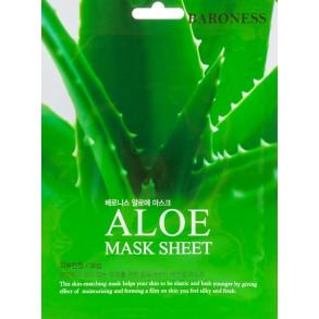 Тканевая увлажняющая маска с экстрактом алоэ Beauadd Baroness Aloe Mask Sheet