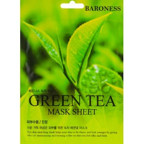 Тканевая маска с экстрактом зеленого чая Beauadd Baroness Mask Sheet Green Tea