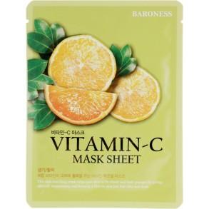 Тканевая маска с витамином С Beauadd Baroness Mask Sheet Vitamin C
