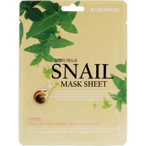 Регенерирующая тканевая маска с муцином улитки Beauadd Baroness Snail Mask Sheet