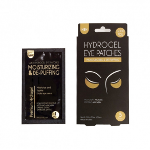 Гидрогелевые патчи под глаза Hanwoong Luke Hydrogel Eye Pathes Moisturizing & De-Puffing Gold Foil (5pairs)