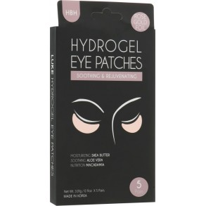 Hanwoong Luke Hydrogel Eye Patches Moisturizing & De-Puffing Rose Gold Foil