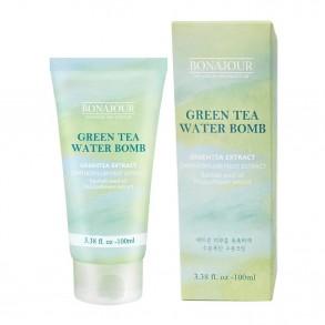 Интенсивно увлажняющий успокаивающий крем Bonajour Green Tea Water Bomb Cream