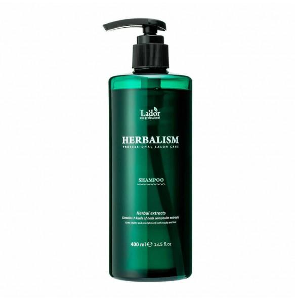 Успокаивающий шампунь против выпадения волос с травами La'dor Herbalism Shampoo