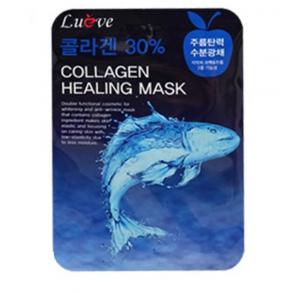 Тканевая маска для лица с коллагеном Inta Lueve Collagen Healing Mask