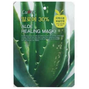 Тканевая маска с экстрактом алое Inta Lueve Aloe Healing Mask