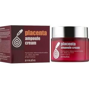Крем для увлажнения и повышения упругости лица с экстрактом плаценты Zenzia Placenta Ampoule Cream