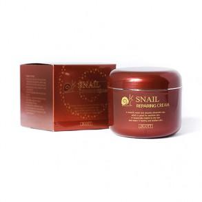 Восстанавливающий крем с экстрактом слизи улитки Jigott Snail Reparing Cream