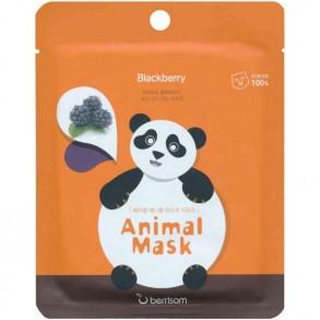 Тканевая маска с экстрактом ежевики Berrisom Animal Mask Blackberry Series Panda