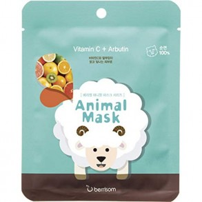 Тканевая маска с витамином С и арбутином Berrisom Animal Mask Vitamin C + Arbutin Series Sheep