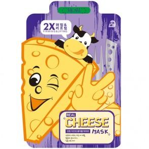 Тканевая лифтинг-маска с ферментированным сыром Mijin Mj Care Real Cheese Firming & Lifting Mask