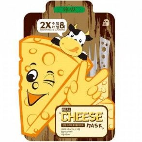 Успокаивающая маска с ферментированным сыром Mijin Mj Care Real Cheese Calming & Soothing Mask