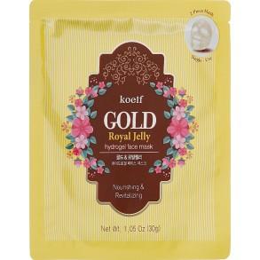 Гидрогелевая маска для лица с золотом и маточкиным молочком Petitfee&Koelf Gold & Royal Jelly Hydro Gel Mask